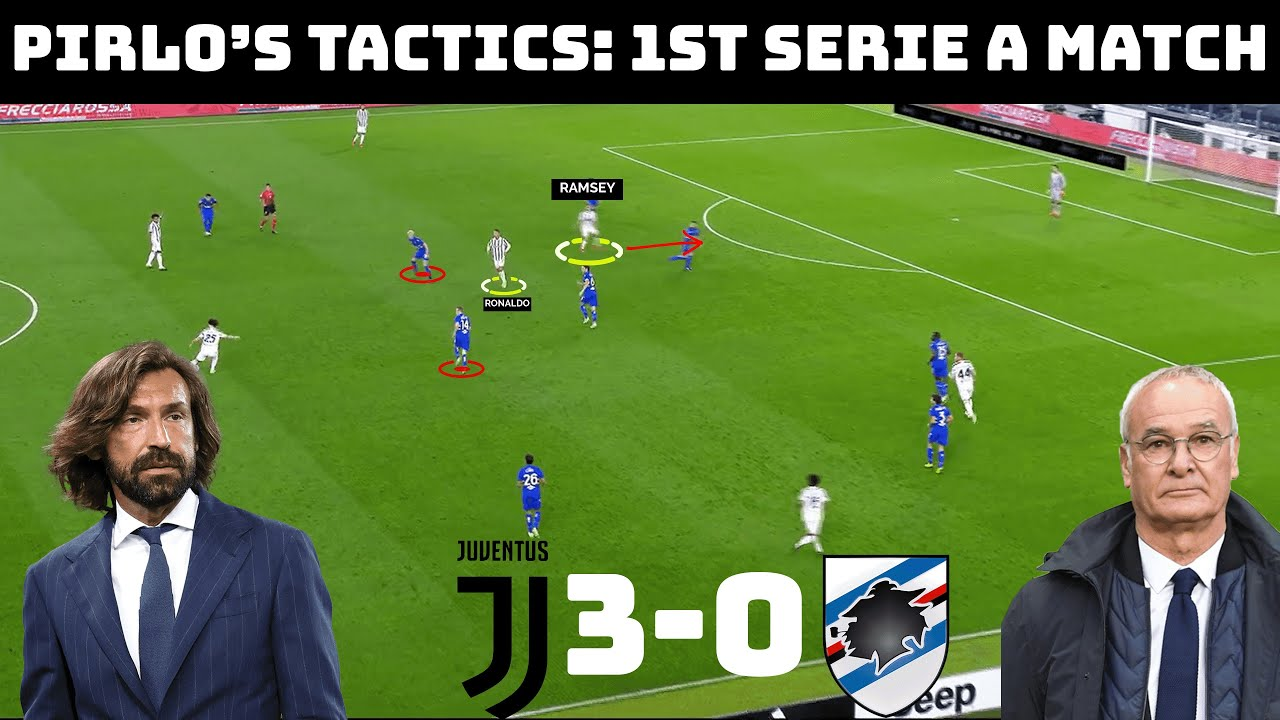 Tactical Analysis: Pirlo's First Game | Juventus 3-0 Sampdoria | Goals: Ronaldo, Kulusevski, Bonucci