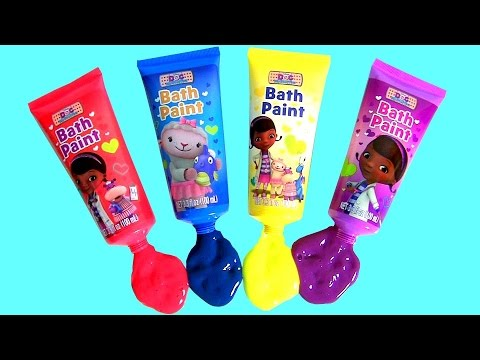 Little Mommy Bubbly Bathtime Color Changing Baby Doll Disney Doc McStuffins Finger Bath Paint