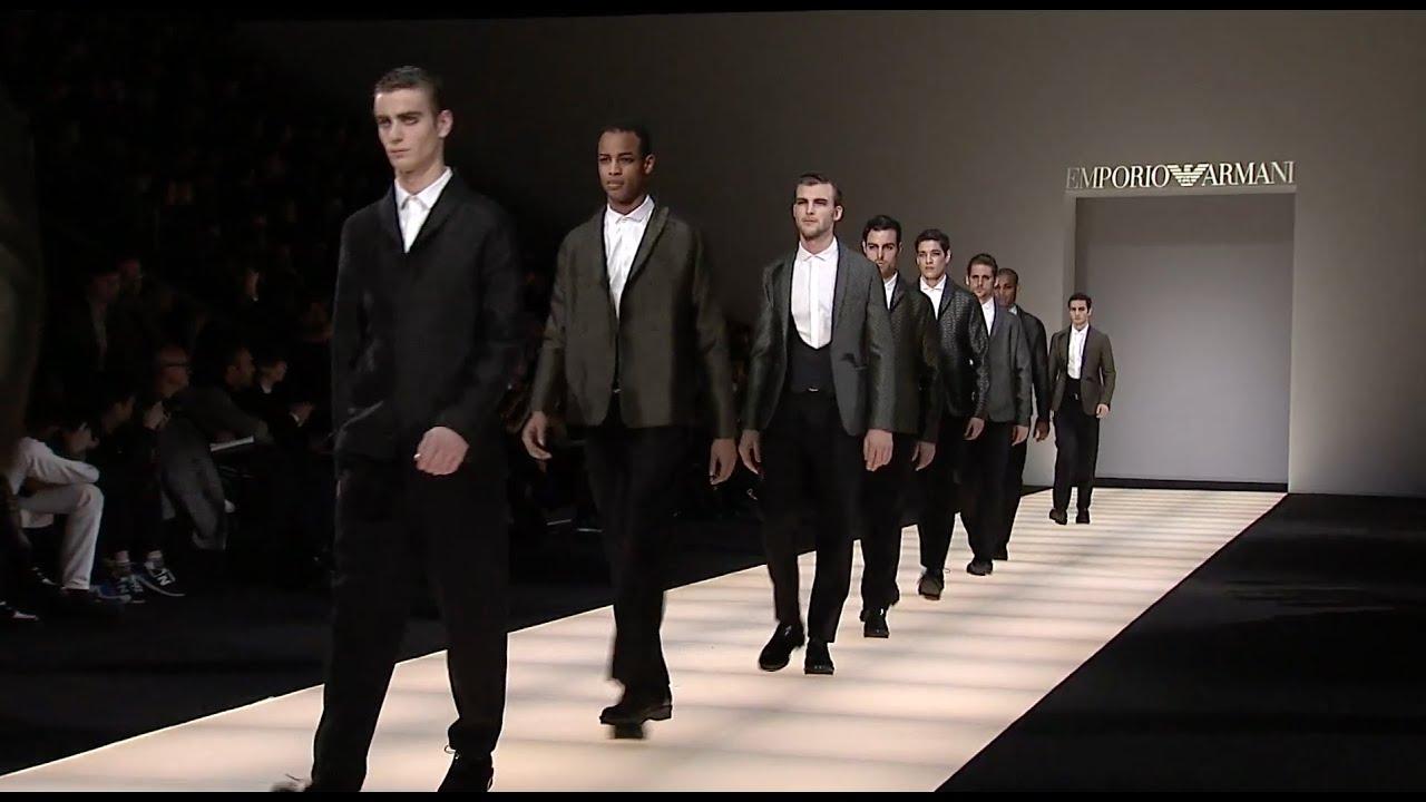 emporio armani 2015 fall winter menswear collection youtube