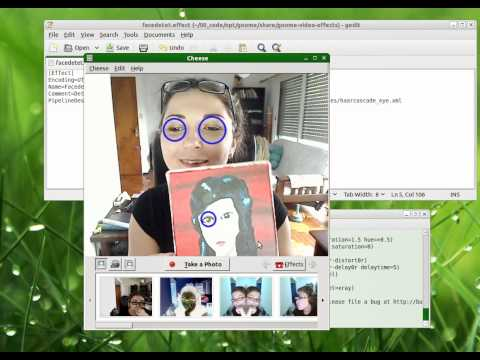 Face detection with Cheese and OpenCV