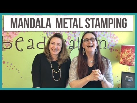 How to Mandala Stamp on Metal - from Beaducation Live Episode 3