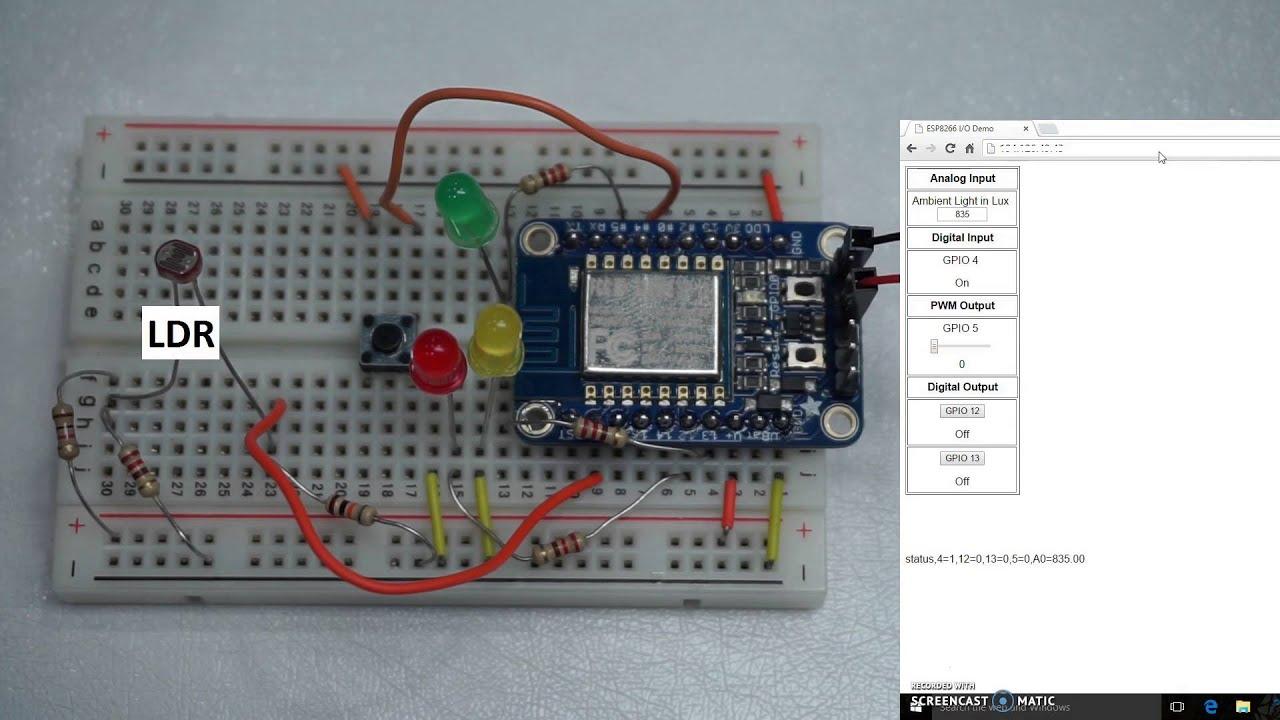 Control Input Output of ESP8266 with AJAX | Baba AweSam