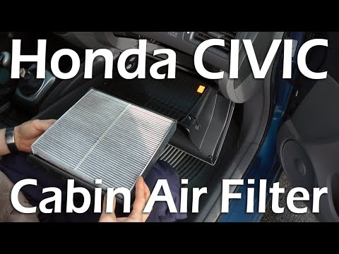 honda civic 2006 2011 cabin air filter replacement. Black Bedroom Furniture Sets. Home Design Ideas