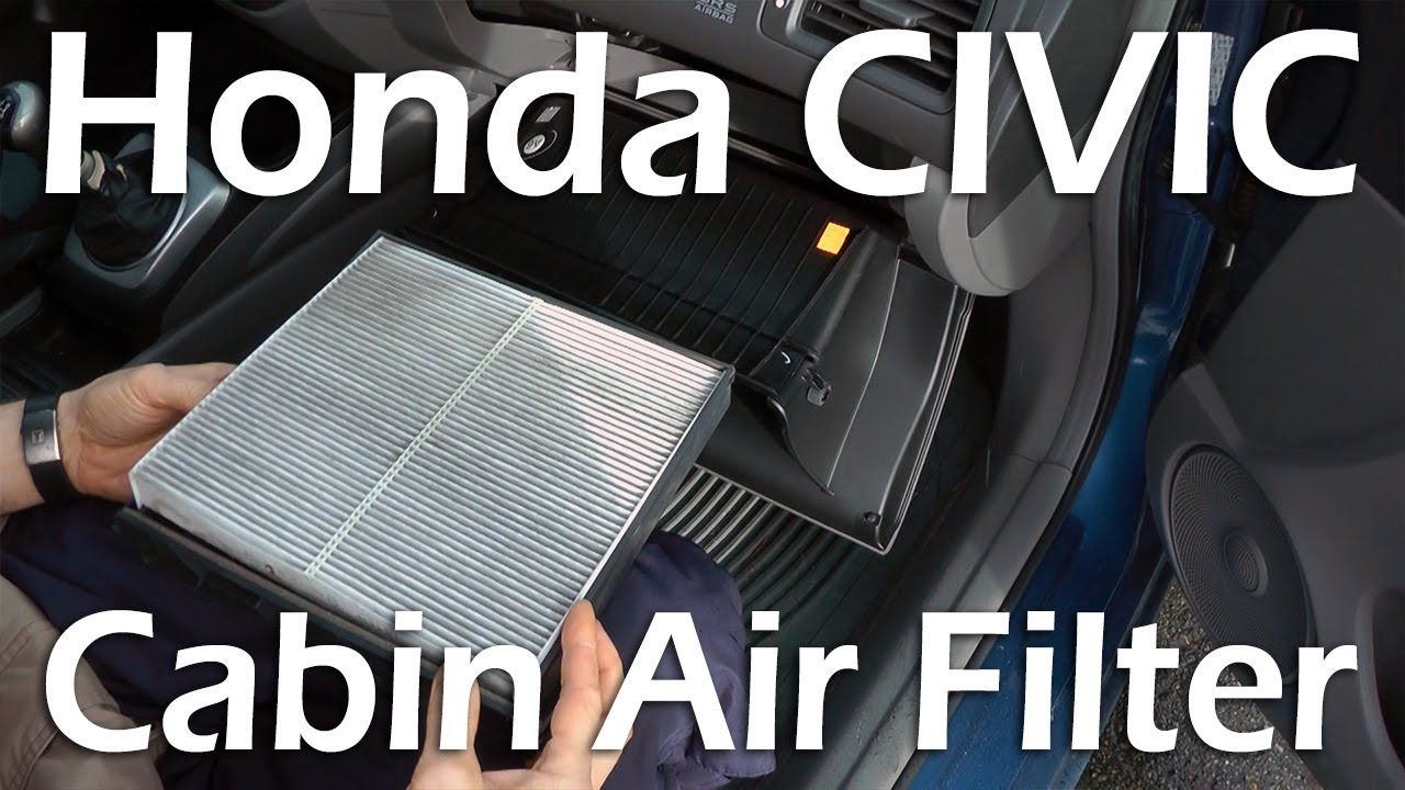 Honda Civic (2006 2011)   Cabin Air Filter Replacement.   YouTube