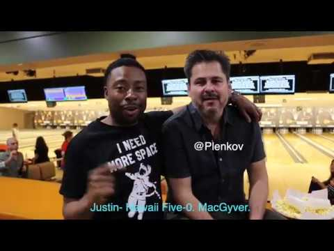 Peter Lenkov and Murdoc at MacGyver LA Wrap Party with Justin Hires  @JustinHires