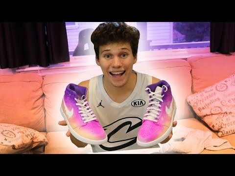 CREATING CUSTOM NIKE CHANCE THE RAPPER (ACID RAP) SHOES!