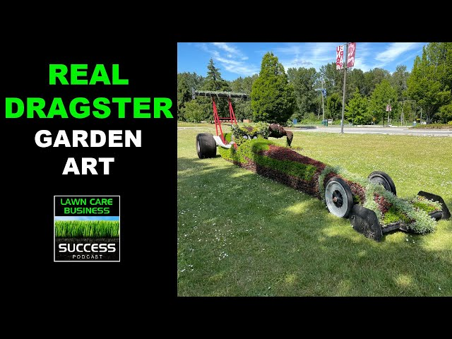 Real Dragster Garden Art
