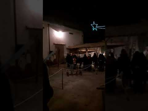Russian Girl At Nativity Scene In Ispica,Sicily