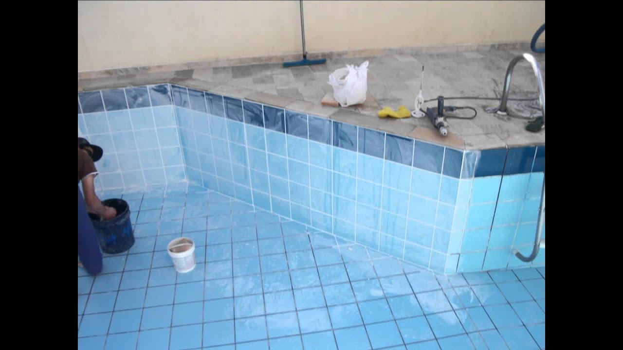 Rejuntando piscina youtube for De k piscina