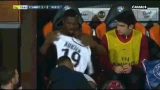 PSG: Quand Aurier met 8 minutes à s'habiller pour entrer en jeu