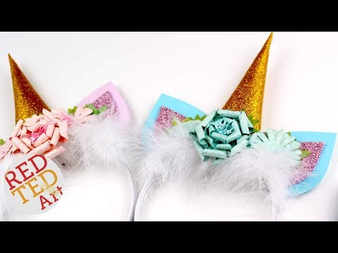 Unicorn Headband DIY - How to make a Unicorn Headband - DIY Unicorn Ears & Horn