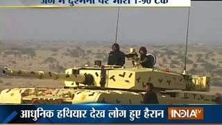 Army Displays 'Arjun Tank' Power While Military Exercise