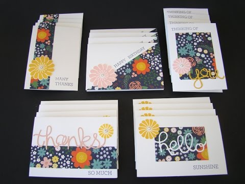 One Sheet Wonder Note Cards - YouTube - photo#41