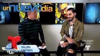 ¡Maluma nos cuenta cómo se enamoró de su novia! | Un Nuevo Día | Telemundo
