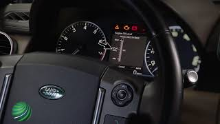 Land Rover LR4  Checking Engine Oil Level via the Driver Information Display (Instrument Cluster)
