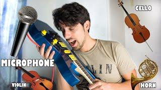 Bad Guy played imitating instruments on guitar
