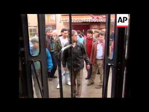 BOSNIA: SARAJEVO: SERB SNIPERS OPEN FIRE ON TRAM