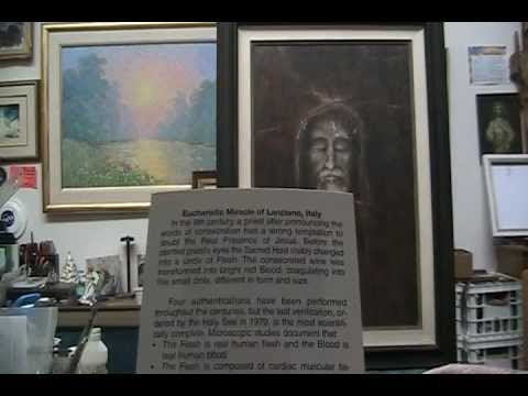 Eucharistic Miracle of Luciano , Italy & My Shroud Painting