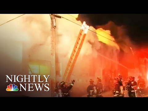 Video Inside Oakland Warehouse Before Deadly Fire (Exclusive) | NBC Nightly News