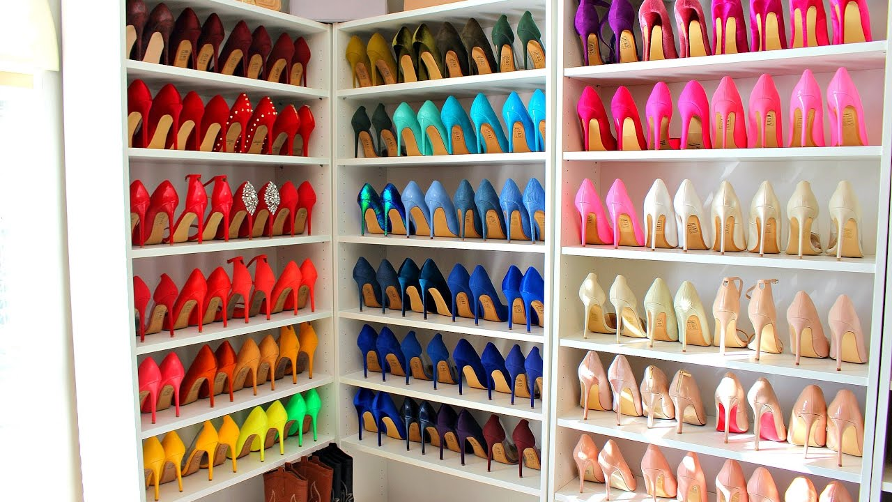 Color Coordinating My Shoe Collection