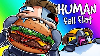 Human Fall Flat Funny Moments - New DLC Map with Hungry Terroriser!