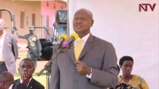 Museveni attends Easter mass in Mityana