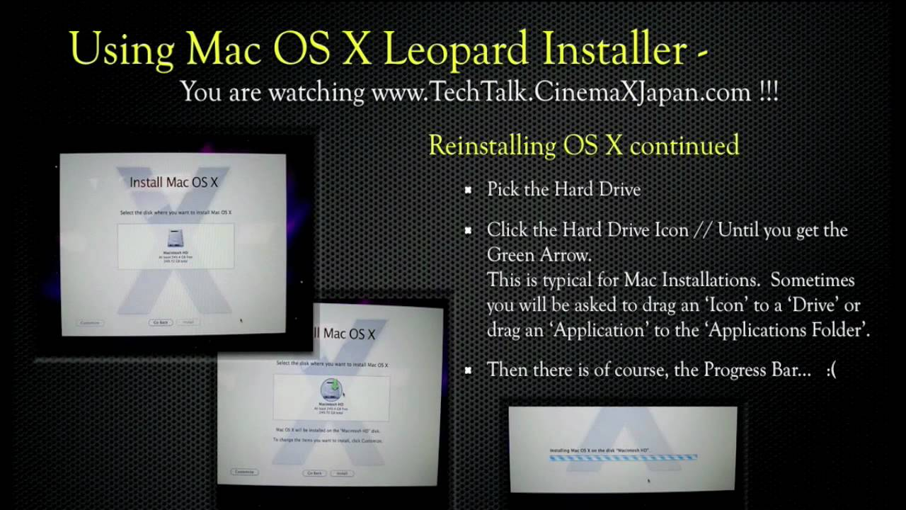TechTalk Reinstall Mac OS X Snow Leopard 10 6 v2 mov