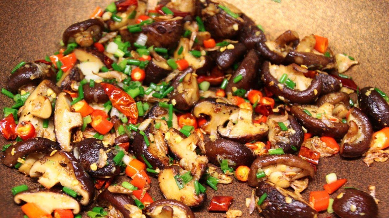 เห็ดหอมคั่วพริกเกลือ เมนูมังสวิรัติง่ายๆ หอมอร่อยมาก ใครๆก็ทำได้ l กินได้อร่อยด้วย