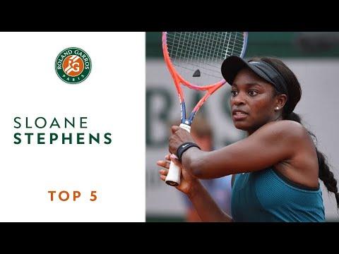 Sloane Stephens - TOP 5 | Roland Garros 2018