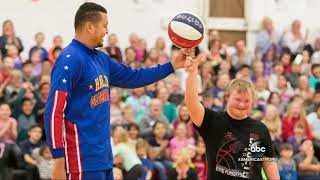 High school student who made half-court shot scores with Harlem Globetrotters