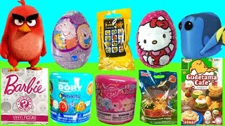 TOY SURPRISE Chocolate Egg and Blind Bag Hunt! Dory Mashem, Peppa Pig & Hello Kitty