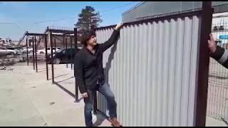 видео Установка заборов в Ликино-дулево