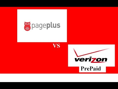 PagePlus Vs Verizon Prepaid Cell Service