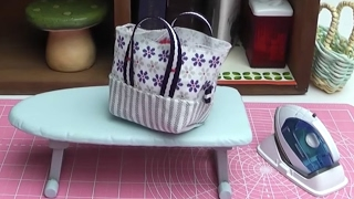 【RE MENT】Petit tote bag making with Mini iron ♥ぷちトートバッグづくり