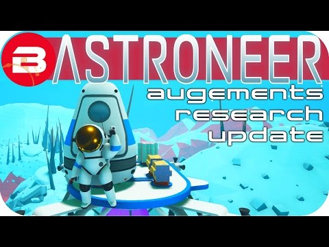Astroneer Gameplay - MINING COLONY ▶AUGMENT & RESEARCH CURVE UPDATE◀ Lets Play Astroneer #7