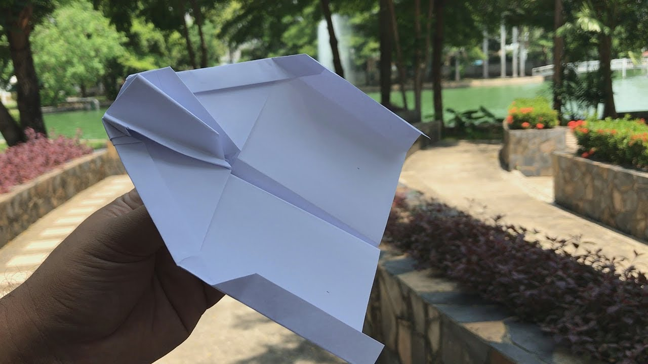 How to make paper airplane that flies for a long time - Paper Airplane That FLIES FAR #20