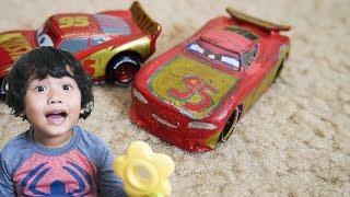 CARS 3 TOYS Custom Next Gen RUSTEZE Lightning McQueen DIY Diecast Cars