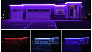 DIY High Voltage 110V RGB LED Strip Permanent Christmas Holiday Accent Lights Installed