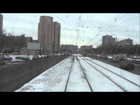 St Petersburg, Russia. Tram Line 25 Kupchino-Ulitsa Marata. Part 1/2.