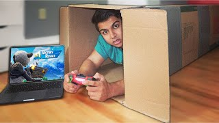 I Mailed Myself Inside A Cardboard Box While Playing Fortnite! (HUMAN MAIL CHALLENGE)
