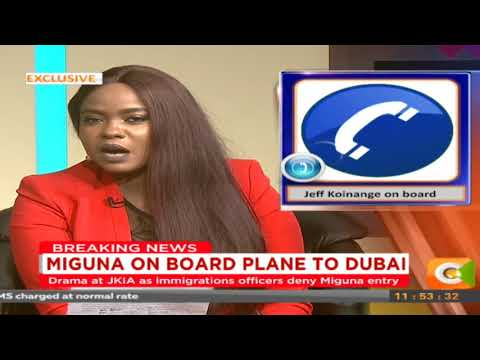 """Miguna was bundled into the plane,"" Jeff Koinange narrates events on board Dubai plane"