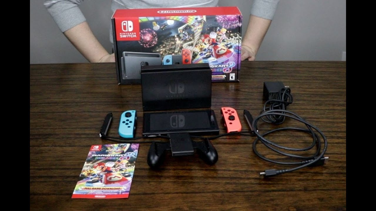 Nintendo Switch Mario Kart 8 Deluxe Bundle Unboxing And Review