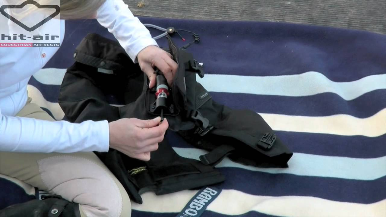 690e0465c12b4 Hit-Air Jackets   How it Inflates and How to Change a Canister    HorseandRider UK - YouTube