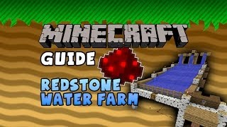 Minecraft Guide - Redstone Water Farm