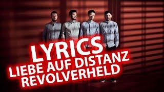 Liebe auf Distanz LYRIC | Songtexte zu Revolverheld feat. Antje Schomaker | Lyrics (animiert) HD