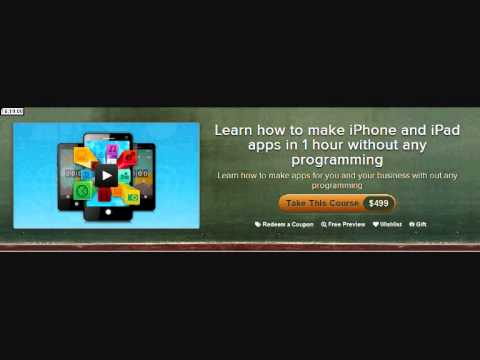 Learn How To Make Iphone And Ipad Apps In Hour Without Any Programming