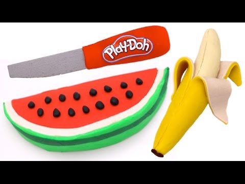 Thumbnail: How to Make Play Doh Watermelon & Banana Fruit | Learn Colors