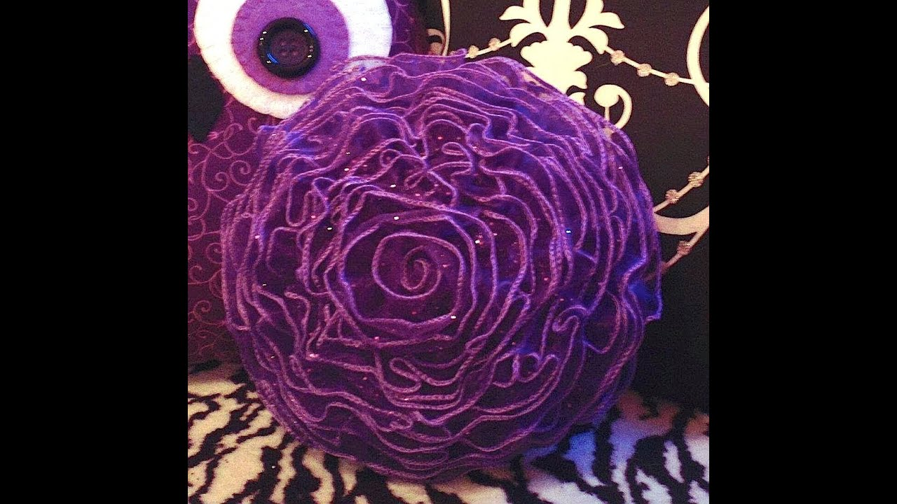 How To Make A Decorative Flower Pillow Youtube