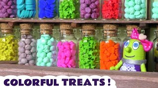Learn Colors with Colorful Candy Funny Funlings and Disney Cars McQueen TT4U