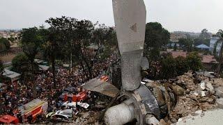 Indonesian military plane crashes in northern Sumatra city of medan; Metro TV Reuters